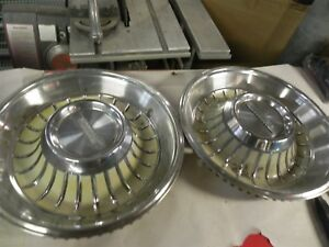1962 Cadillac Chevrolet Gm 2x Hub Caps Vintage Antique Automotive Nice Used Cool