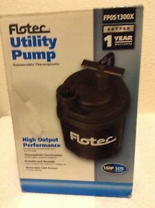 New Flotec Water Removal Utility Pump 1 6 Hp 1470 Gph