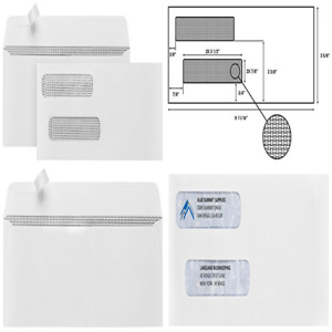 500 Self Seal Double Window Security Envelopes Designed For Quickbooks Checks Co