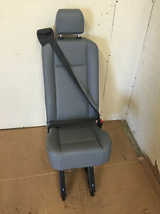 2015 2016 Ford Transit Van 1 Person Rear Seat Gray Vinyl With Rails And Bolts