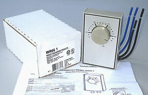 Marley Heavy Duty Wr66 1 Line Voltage Electric Heat Room Thermostat 4 Wire Dpst