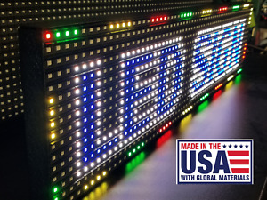 Full Color 38 x 6 5 P10 Indoor semi outdoor Led Sign Programmable made Usa