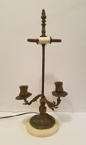 Antique French Rococo Style Gold Candelabra Lamp