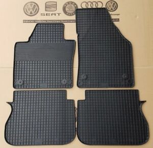 Vw Caddy Iii 3 Iv 4 Type 2k Floor Rubber Mats Front Rear Set Of 4 Pieces 03 18