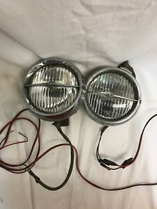 2 Vintage Fog Lights 5 Old School Accessories Cars trucks Hot Rod