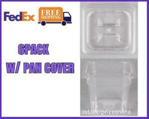 6 Pack Polycarbonate Deep Food Pan With Lid 6 Deep Us Fedex Free Shipping