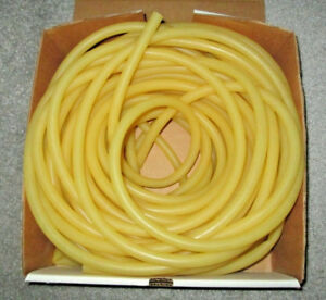100 Feet Total Of Natural Rubber Latex Tubing Amber 3 8 Id W 1 16 Wall