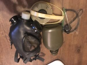 Israeli Adult Gas Mask With Air Unit Nato Filter And Hydration Canteen