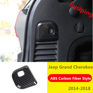 For Jeep Grand Cherokee 2014 18 Carbon Fiber Rear Trunk Switch Button Cover Trim