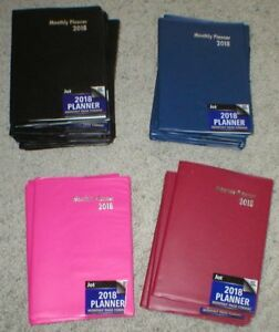 Lot Of 36 Monthly Planners Organizers Address Book Etc Soft Cover 2018