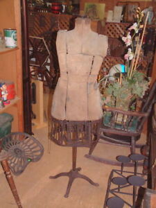 1800 s Mannequin Dress Form Vintage Clothing Tailor Window Display
