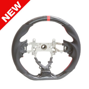 Handkraftd 9th Gen 12 15 Honda Civic Hydro Carbon Steering Wheel W Red Stripe