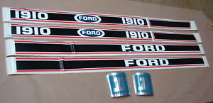 Ford 1910 Red Black Decal Set