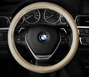 Steering Wheel Cover Beige Tan Nude Crude Faux Leather 14 5 15 5 m