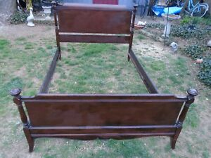 Antique Mahogany Victorian Wood Early 1900 S Double Bed