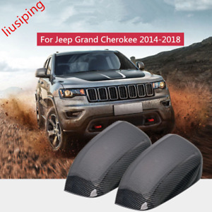 Carbon Fiber Abs Rear Mirror View Cover Trim For Jeep Grand Cherokee 2014 2018