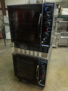 Moffat Turbofan 32 Double Stack Half Size Nat Gas Convection Oven On Casters
