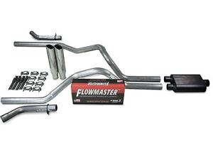 Chevy Gmc 1500 07 14 2 5 Dual Exhaust Kit Flowmaster Super 44 Clamp Tip Corner