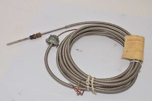 New Novatec 01020 Thermocouple Undergrounded Type J 6 17 1 2 2 1 2 3 20ft