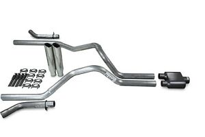 Dodge Ram 1500 04 08 2 5 Dual Exhaust Kits 1 Chamber Clamp On Tips Corner Exit