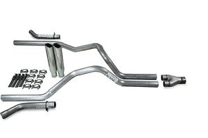 Ford F 150 04 14 2 5 Dual Truck Exhaust Kits Y Pipe Clamp On Tips Corner Exit