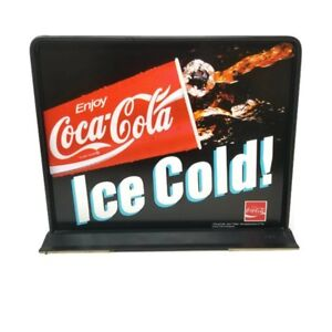 Antique Coca-Cola  Ice Cold! Two Sided Advertising Interchangeable Insert Stand