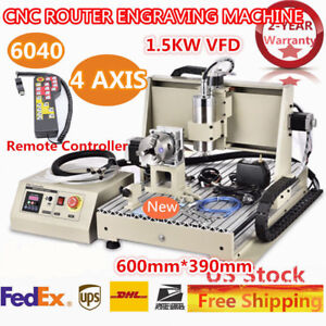 4axis 6040 Cnc Usb Router Engraver Engraving Desktop 1500w 1 5kw Handwheel Wood