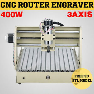 3 Axis 3040 Cnc Router Engraver 400w Engraving Milling Drilling Cutting Desktop