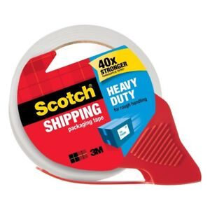 Scotch 1 88 In x54 6 Yds Shipping Packaging Tape Dispenser case Of 12 By 3m