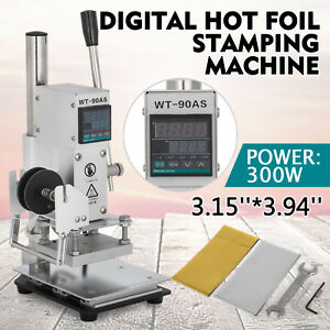 8 10cm Digital Hot Foil Stamping Machine Leather Stamper Embossing Bronzing 110v