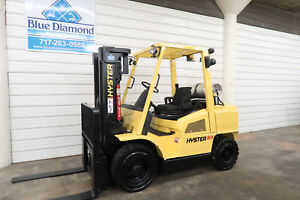 Hyster H80xm 8 000 Pneumatic Tire Forklift Lp Gas three Stage 4 Way sideshift