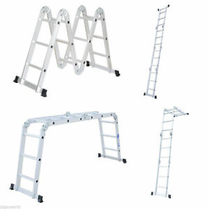 12 5ft En131 Heavy Duty Multi Purpose Step Aluminum Folding Scaffold Ladder Us