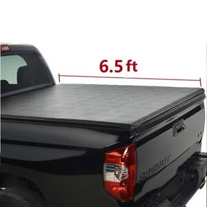 6 5 Fleetside Bed Soft Vinyl Roll up Tonneau Cover Fit 07 14 Silverado sierra