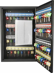 64 Key Storage Cabinet Safe Wall Mount Lock Box Hook Organizer Holder Security