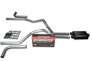 Ford F 150 87 97 2 5 Dual Exhaust Kits Flowmaster Super 40 Side Exit