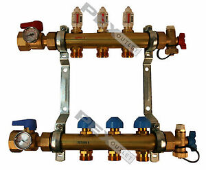 Rehau Pro balance Radiant Floor Heat Manifold For Pex Pipe 3 Circuit
