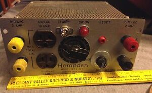Vintage Hampden Ac dc Power Supply Model Bps 12f Powers Up Vgc