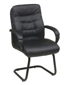 Faux Leather Deluxe Visitors Chair Fl7485 u6