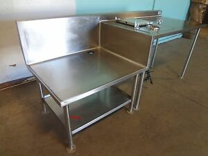 glas Tender Ss Refrigerated Ice Cream desert Server Station W dipping Well
