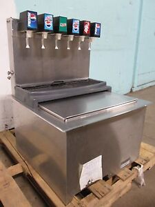 servend Commercial Drop in Insert 6 Heads Soda Dispenser W cold Plate Ice Bin