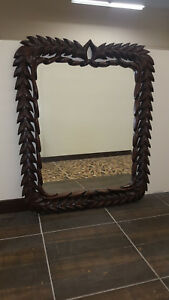 Wood Wall Mirror Frame Hand Made French Style Louis Xv
