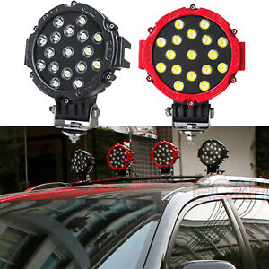 7 102w Round Spotlight Led Bumper Roof Work Lights Jeep Off Road Rollersdriving