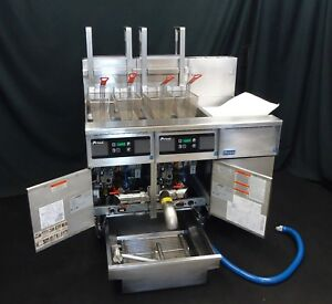Commercial Gas Fryer Pitco Solstice 2 Well Digital W Basket Lifts Filter System