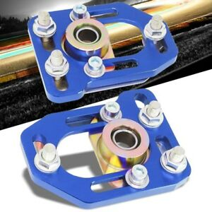 Blue Front Adjustable 3 Camber 2 Caster Plates Kit For 79 89 Ford Mustang