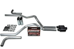 Dodge Ram 1500 94 03 2 5 Dual Exhaust Kits Flowmaster Super 10 Slash Tip Side