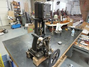 Antique Marine Vertical Steam Engine With Reverse