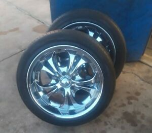 4 18 Chrome Rims With Tires