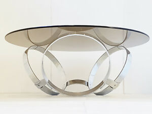 Coffee Table Round To The Rings Chrome 1970 Space Age Vintage 70s 70 S Pop