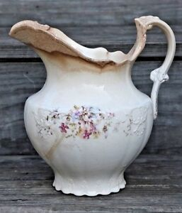 Tst Royal Vitreous Porcelain Pitcher Antique Victorian Taylor Smith Taylor 1800s