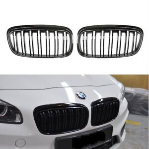 M2 Style Painted Piano Gloss Black Front Grilles Grille For 14 18 F45 F46 Active